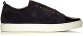 Lanvin Capped-toe low-top suede trainers