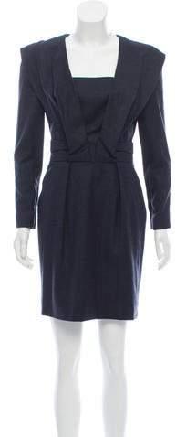 Oscar de la Renta Virgin Wool Mini Dress