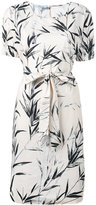 Blumarine printed belted dress