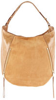 Halston Elysa Suede and Leather Hobo Bag