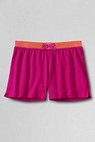 Classic Girls Contrast Waistband Solid Knit Shorts-Evening Cobalt Stripe