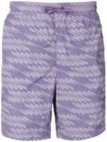 Stone Island Shadow Project geometric print swim shorts