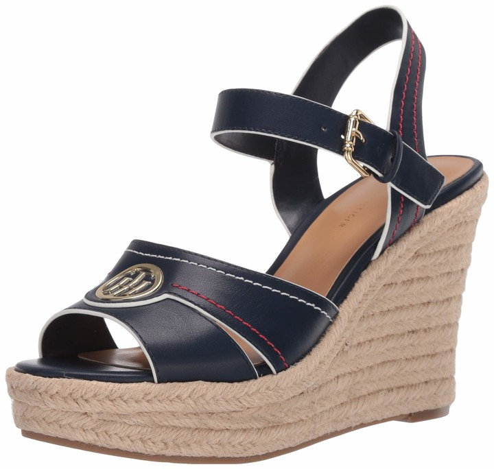 Tommy Jeans Wedge Sandal Glitter Badge Espadrillas Donna