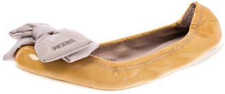 Prada Sport Prada Mustard Patent Leather Bow Ballet Flats Size 39
