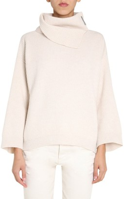 Brunello Cucinelli Turtleneck Ribbed Knitted Sweater