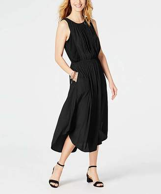 J. Jill J.Jill Women's Casual Dresses BLACK - Black Shirttail Sleeveless Midi Dress - Women
