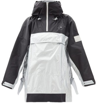 adidas by Stella McCartney Recycled-ripstop Oversized Hooded Jacket - Silver