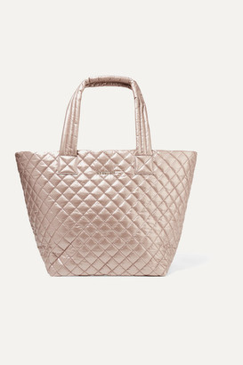 MZ Wallace Metro Medium Quilted Metallic Shell Tote - Pink