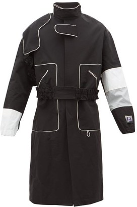 Boramy Viguier Contrast-panel Technical Shell Coat - Black