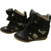 Isabel Marant Blue Leather Trainers