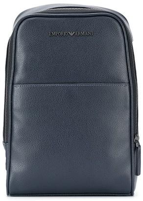 Emporio Armani Textured Logo Backpack