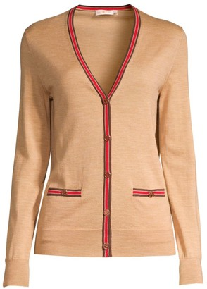 Tory Burch Madeline Striped Trim Cardigan