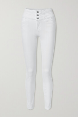 J Brand - Annalie High-rise Skinny Jeans - White