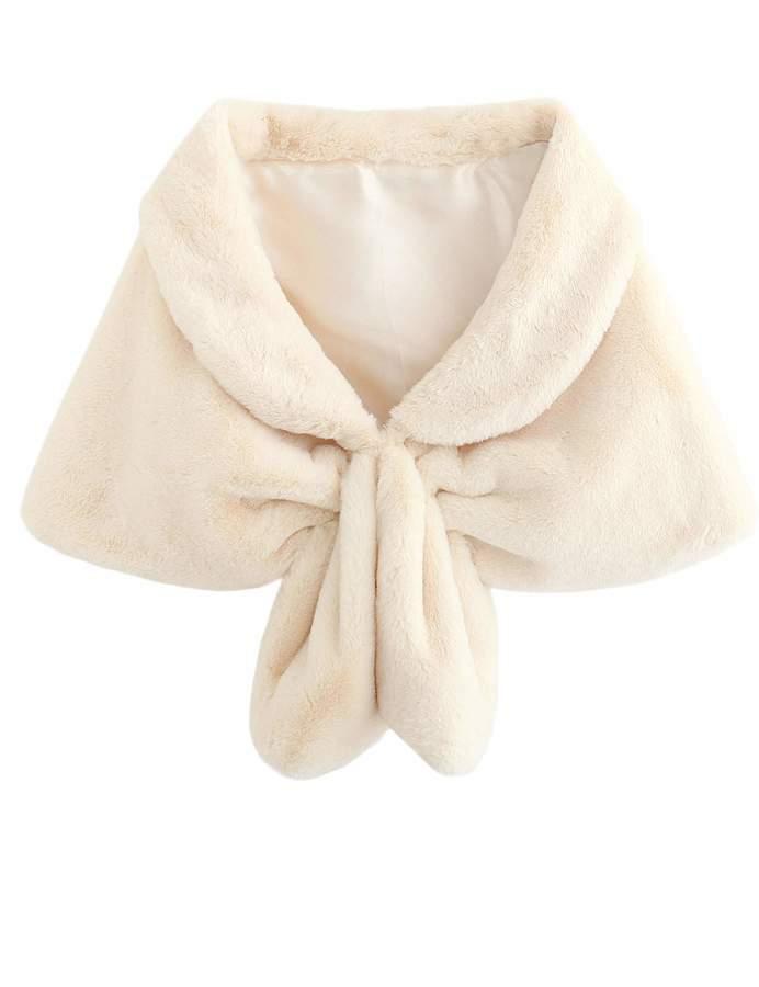 10e0d657d5 Scarves & Wraps FNKS CRAFT Womens Faux Fur Shawl Winter Bridal Wedding Shrug  Bridesmaid Stole