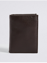 M&S Collection Leather Slim Tri Fold Id Wallet with CardsafeTM