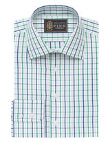 Thomas Pink Lions Robin Check Slim Fit Button Cuff Shirt