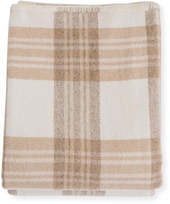 Plaid Merino Wool King Blanket, Harvest Plaid