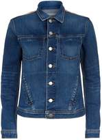 L'Agence Celine Metallic Back Denim Jacket