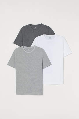 H&M 3-pack Regular Fit T-shirts - Gray