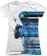 White & Blue Power Rangers Streak Tee - Women