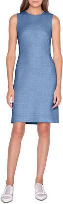 Akris Linen-Cotton Skimmer Dress