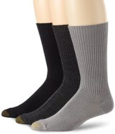 Gold Toe Men's Fluffies 3 Pack Casual Socks