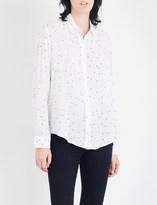 Rails Sydney star-print linen-blend shirt
