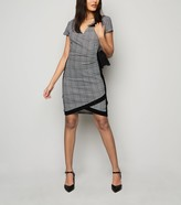 New Look Dogtooth Wrap Dress