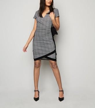New Look Dogtooth Wrap Dress