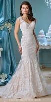 Mon Cheri Enchanting Lace Illusion Back Embroidered Wedding Gown