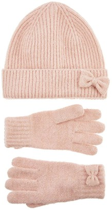 Accessorize Girls Hat And Glove Set - Pink