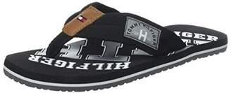 Tommy Hilfiger Men's Essential Th Beach Sandal Flip Flops, Black (Black 990), (47 EU)