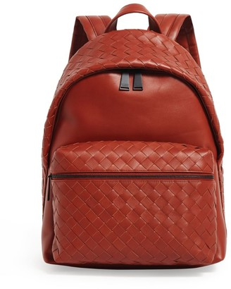 Bottega Veneta Leather Intrecciato Backpack