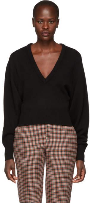 Chloé Black Cashmere V-Neck Sweater