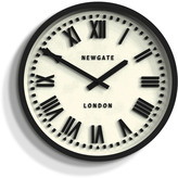 Newgate Power Station Wall Clock Black