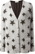 a32649443e Saint Laurent star print cardigan