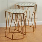 Stylecraft Gold Finish Metal Nesting Table 2-piece Set