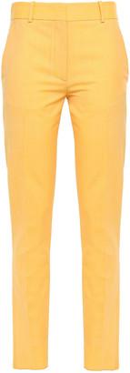 Victoria Beckham Melange Wool Slim-leg Pants