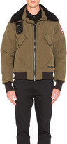 Canada Goose Bromley Shearling Collar Bomber in Military Green | FWRD
