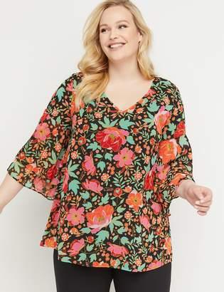 Lane Bryant Chiffon Kimono-Sleeve Top