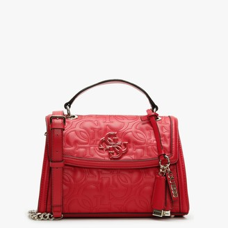 GUESS New Wave Top Handle Red Cross-Body Bag