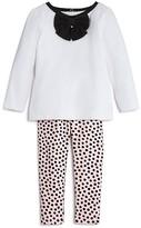 Kate Spade Infant Girls' Bow Top & Dot Leggings Set - Sizes 6-24 Months