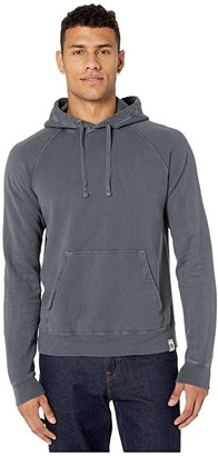 Hanes 1901 Heritage Fleece Raglan Pullover Hoodie (Navy) Men's Clothing