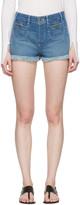 Chloé Blue Denim Cut-Off Shorts