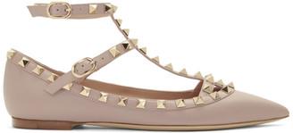 Valentino Pink Garavani Rockstud Ballerina Flats