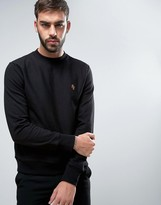 Paul Smith Crew Sweatshirt PS Embroidered in Black