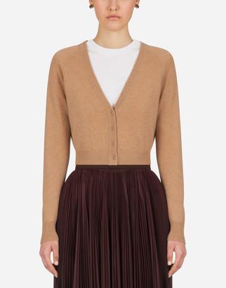 Dolce & Gabbana Short Cardigan In Cashmere