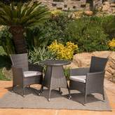 Ebern Designs Mansfield 3 Piece Bistro Set with Cushions Ebern Designs