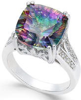 Macy's Mystic Topaz (5 ct. t.w.) and White Topaz Accent Ring in Sterling Silver