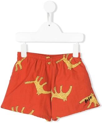 Bobo Choses Leopard Print Swim Shorts